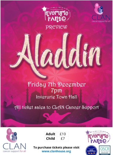 Inverurie Panto Preview Night for CLAN