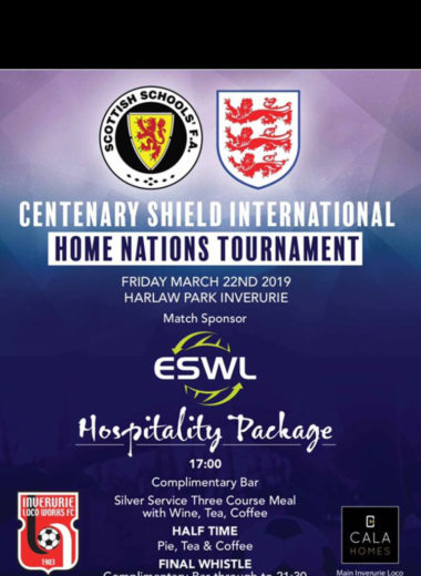 Scotland v England Schoolboys International