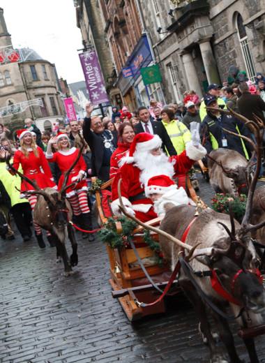 Santa's Reindeer Saturday in Inverurie