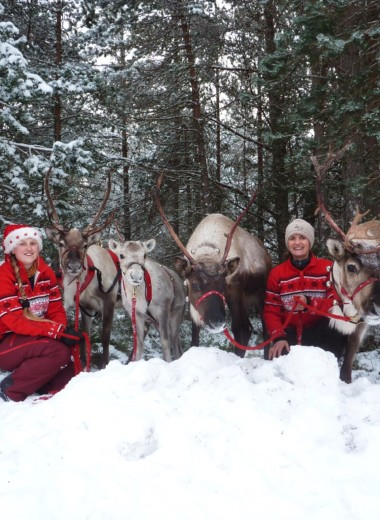 Reindeer Parade with Santa & his sleigh